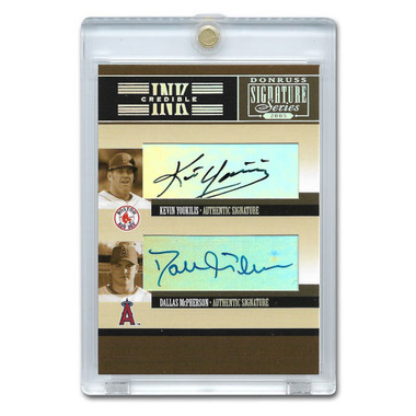 Kevin Youkilis and Dallas McPherson Autographed Card 2005 Donruss Signature Inkcredible  #IS-25