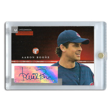 Aaron Boone Autographed Card 2005 Topps Pristine Personal Endorsements # AB
