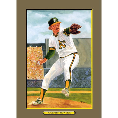 Catfish Hunter Perez-Steele Hall of Fame Great Moments Limited Edition Jumbo Postcard # 62