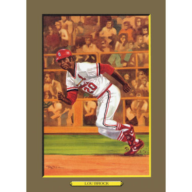 Lou Brock Perez-Steele Hall of Fame Great Moments Limited Edition Jumbo Postcard # 66