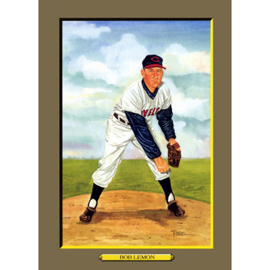 Bob Lemon Perez-Steele Hall of Fame Great Moments Limited Edition Jumbo Postcard # 67