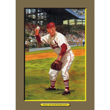 Red Schoendienstt Perez-Steele Hall of Fame Great Moments Limited Edition Jumbo Postcard # 55