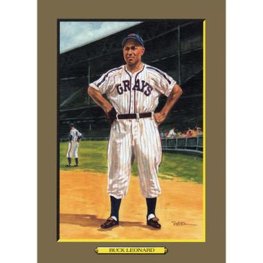Buck Leonard Perez-Steele Hall of Fame Great Moments Limited Edition Jumbo Postcard # 58