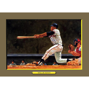 Willie Mays Perez-Steele Hall of Fame Great Moments Limited Edition Jumbo Postcard # 65