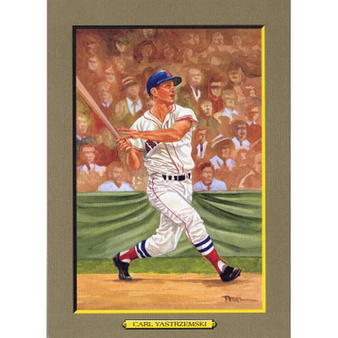 Carl Yastrzemski Perez-Steele Hall of Fame Great Moments Limited Edition Jumbo Postcard # 72