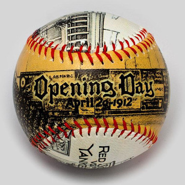 Fenway Park Opening Day 1912 Unforgettaballs Limited Commemorative Baseball with Lucite Gift Box