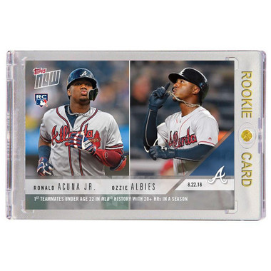 Ronald Acuna Atlanta Braves 2018 Topps Now # 627 Rookie Card