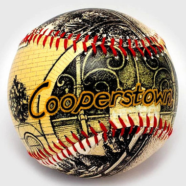 Cooperstown NY Home of Baseball Unforgettaballs Limited Commemorative Baseball with Lucite Gift Box