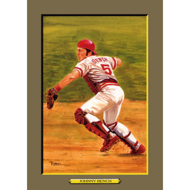 Johnny Bench Perez-Steele Hall of Fame Great Moments Limited Edition Jumbo Postcard # 49