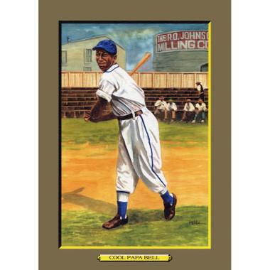 Cool Papa Bell Perez-Steele Hall of Fame Great Moments Limited Edition Jumbo Postcard # 51