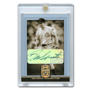 Ron Santo Autographed Card 2005 Donruss Greats Gold Holofoil Signatures