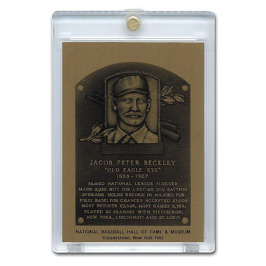 Jake Beckley 1982 Hall of Fame Metallic Plaque Card