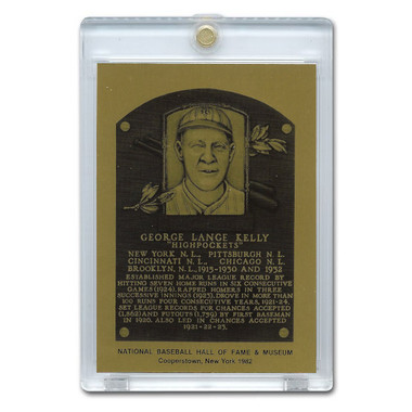 Geroge Kelly 1982 Hall of Fame Metallic Plaque Card
