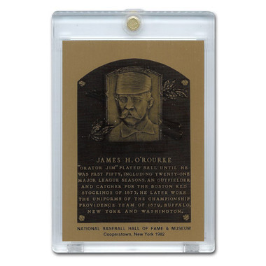 James O'Rourke 1982 Hall of Fame Metallic Plaque Card