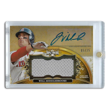 Will Middlebrooks Autographed Card 2013 Topps Triple Threads Ltd Ed of 25
