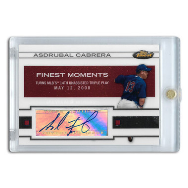 Asdrubal Cabrera Autographed Card 2009 Topps Finest Moments # FMA-AC