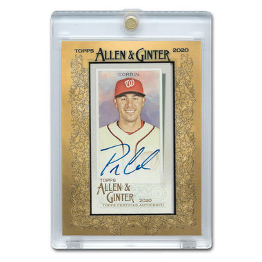 Patrick Corbin Autographed Card 2020 Topps Allen & Ginter #MA-PC