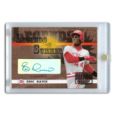 Eric Davis Autographed Card 2003 Donruss Signature Legends of Summer
