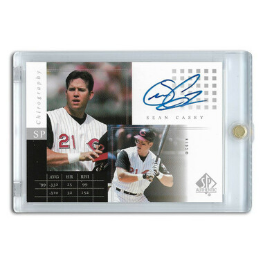 Sean Casey Autographed Card 2000 SP Authentic Chirography