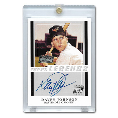 Davey Johnson Autographed Card 2001 Topps Team Legends