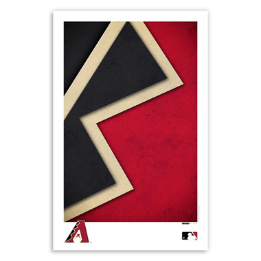 Arizona Diamondbacks Minimalist Team Logo Collection 11 x 17 Fine Art Print by artist S. Preston