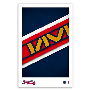 Atlanta Braves Minimalist Team Logo Collection 11 x 17 Fine Art Print by artist S. Preston
