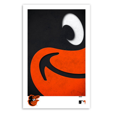 Baltimore Orioles Minimalist Team Logo Collection 11 x 17 Fine Art Print by artist S. Preston