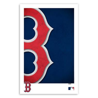 Boston Red Sox Minimalist Team Logo Collection 11 x 17 Fine Art Print by artist S. Preston