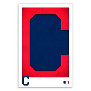 Cleveland Indians Minimalist Team Logo Collection 11 x 17 Fine Art Print by artist S. Preston