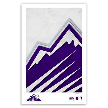 Colorado Rockies Minimalist Team Logo Collection 11 x 17 Fine Art Print by artist S. Preston