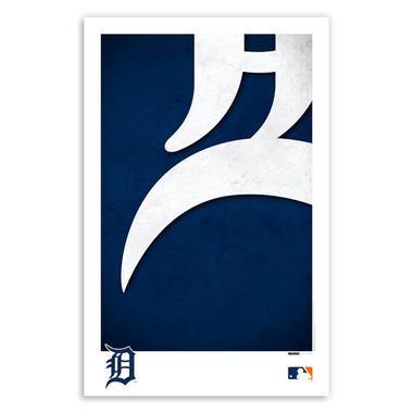 Detroit Tigers Minimalist Team Logo Collection 11 x 17 Fine Art Print by artist S. Preston