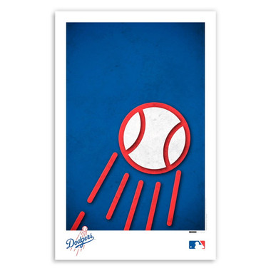 Los Angeles Dodgers Minimalist Team Logo Collection 11 x 17 Fine Art Print by artist S. Preston