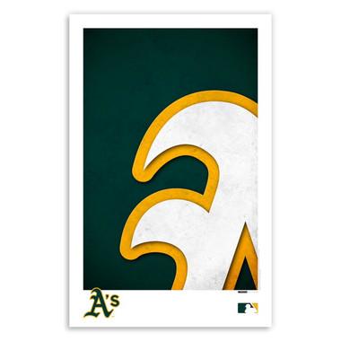 Oakland Athletics Minimalist Team Logo Collection 11 x 17 Fine Art Print by artist S. Preston