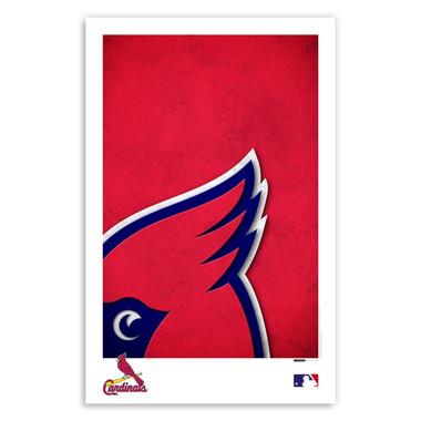 St. Louis Cardinals Minimalist Team Logo Collection 11 x 17 Fine Art Print by artist S. Preston