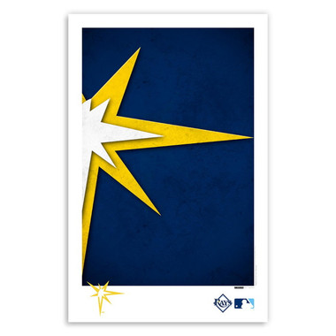 Tampa Bay Rays Minimalist Team Logo Collection 11 x 17 Fine Art Print by artist S. Preston