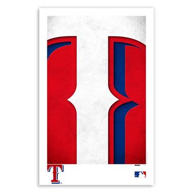 Texas Rangers Minimalist Team Logo Collection 11 x 17 Fine Art Print by artist S. Preston