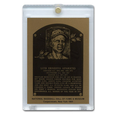 Luis Aparicio 1984 Hall of Fame Metallic Plaque Card