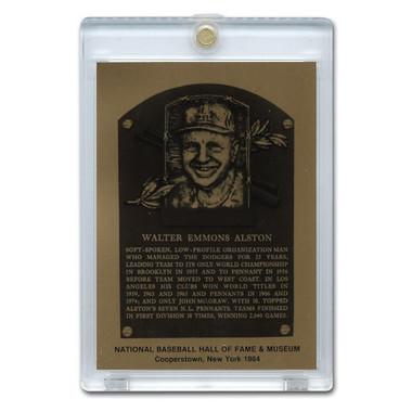 Walter Alston 1984 Hall of Fame Metallic Plaque Card