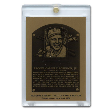 Brooks Robinson 1984 Hall of Fame Metallic Plaque Card
