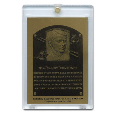Candy Cummings 1982 Hall of Fame Metallic Plaque Card