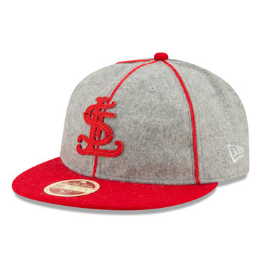 Men's New Era Heritage Series Authentic 1909 St. Louis Cardinals Retro-Crown 59FIFTY Cap