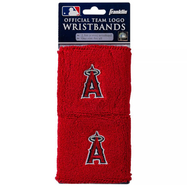"Franklin Sports Los Angeles Angels Pair of 2.5"" Wristbands"