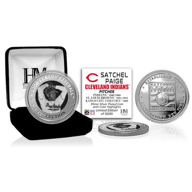 Highland Mint Satchel Paige Cleveland Indians Hall of Fame Silver Photo Coin