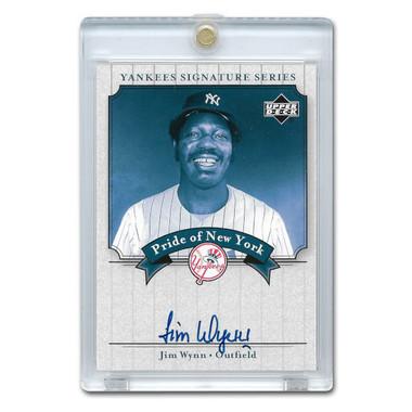 Jim Wynn Autographed Card 2003 Upper Deck Yankees Signature Series #PN-JW