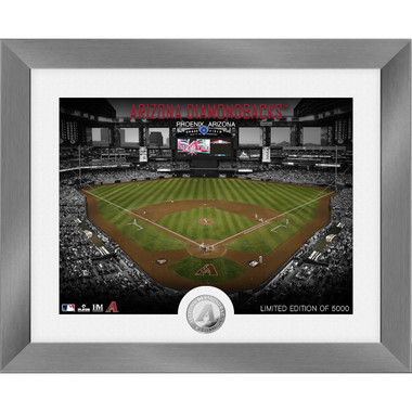 Highland Mint Arizona Diamondbacks Art Deco Stadiums Silver Coin 13 x 16 Photo Mint