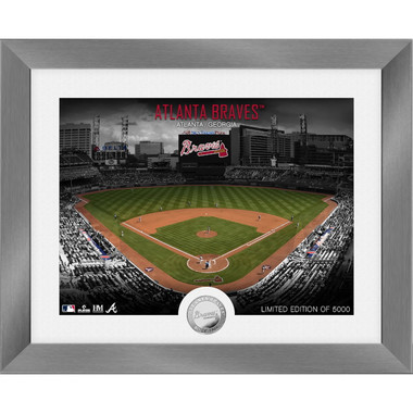 Highland Mint Atlanta Braves Art Deco Stadiums Silver Coin 13 x 16 Photo Mint