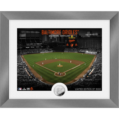 Highland Mint Baltimore Orioles Art Deco Stadiums Silver Coin 13 x 16 Photo Mint