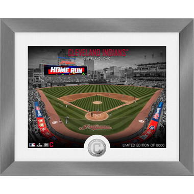 Highland Mint Cleveland Indians Art Deco Stadiums Silver Coin 13 x 16 Photo Mint