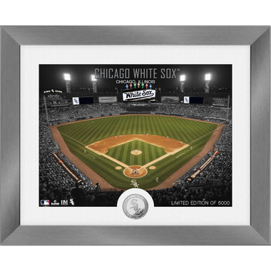 Highland Mint Chicago White Sox Art Deco Stadiums Silver Coin 13 x 16 Photo Mint