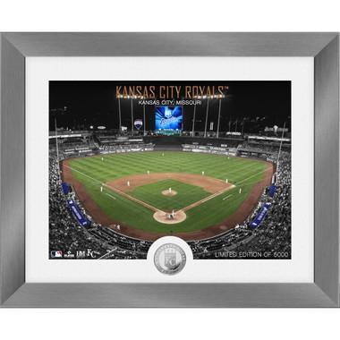 Highland Mint Kansas City Royals Art Deco Stadiums Silver Coin 13 x 16 Photo Mint